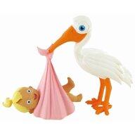 Comansi - Figurina MomentsStork with Baby Girl