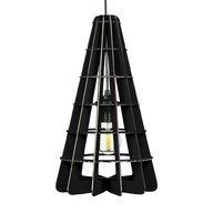 Foldo - Corp de iluminat din carton Conic Black