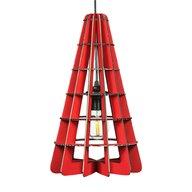 Foldo - Corp de iluminat din carton Conic Red