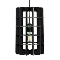Foldo - Corp de iluminat din carton Tube Black