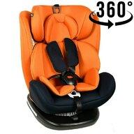 Crocodile - Scaun auto Tweety, rotativ 360 grade, cu Isofix, 0-36 kg, baza neagra, Orange