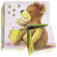 Goki - Puzzle cubic Pui de animale Puzzle Copii, piese4