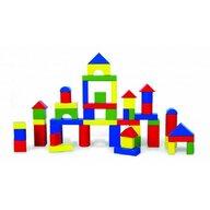 Viga - Set de constructie Cuburi , 50 buc, 3.5 cm, Multicolor