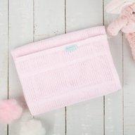 CuddleCo. - Paturica celulara din bambus 90x60 cm Comfi Love Pale Pink