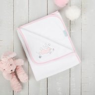 CuddleCo. - Paturica pufoasa din fleece 90x70 cm Comfi Love Rabbit