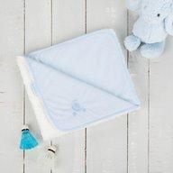 CuddleCo. - Paturica reversibila din tricot/fleece 90x70 cm Comfi Love Blue