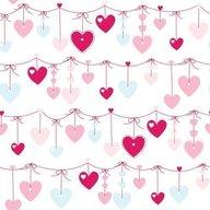 Decofun - Rola tapet 10 x 0,52 m Hearts