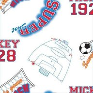 Decofun - Rola tapet 10 x 0,52 m Mickey Footbal