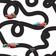 Decofun - Rola tapet 10 x 0,52 m Disney Cars