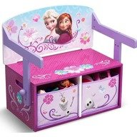 Delta Children - Mobilier 2 in 1 pentru depozitare jucarii Disney Frozen