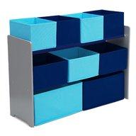 Delta Children - Organizator jucarii cu cadru din lemn Deluxe Grey Blue