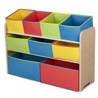 Delta Children - Organizator jucarii cu cadru din lemn Deluxe Multicolor