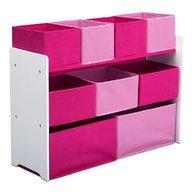 Delta Children - Organizator jucarii cu cadru din lemn Deluxe White Pink
