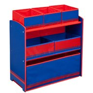 Delta Children - Organizator jucarii cu cadru din lemn Love Blue Red