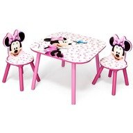 Delta Children Set masuta si 2 scaunele Disney Minnie Mouse Pink Fruits