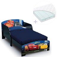 Delta Children - Set pat cu cadru din lemn Disney Cars Team si saltea pentru patut Dreamily, 140 x 70 x 10 cm