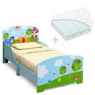 Delta Children Set pat cu cadru din lemn Disney Winnie si saltea pentru patut Dreamily - 140 x 70 x 10 cm