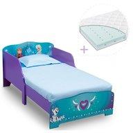 Delta Children - Set pat cu cadru din lemn Frozen si saltea pentru patut Dreamily - 140 x 70 x 10 cm
