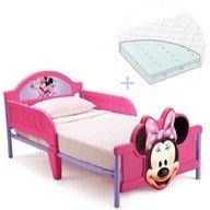 Delta Children Set pat cu cadru metalic Disney Minnie Mouse 3D si saltea pentru patut Dreamily - 140 x 70 x 10 cm