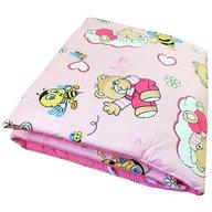 Deseda - Set de aparatori pufoase h39 pat 140x70 cm DeLuxe Ursi cu albine pe roz