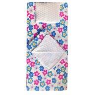 Deseda - Set 3 piese de iarna paturica cu cearsaf si pernuta pentru pat 160x80 cm, Floricele