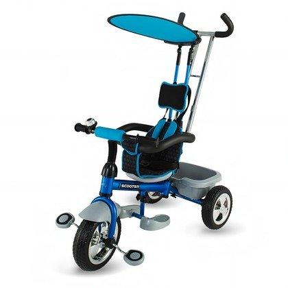 DHS - Tricicleta Scooter plus multifunctionala Albastru