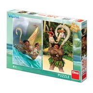 Dino Toys - Puzzle 2 in 1 aventurile Vaianei 66 piese