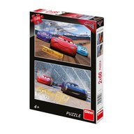 Dino Toys - Puzzle 2 in 1 Cars 3 cursa cea mare 66 piese