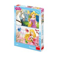 Dino Toys - Puzzle 2 in 1 Rapunzel si Aurora 66 piese