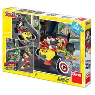 Dino Toys - Puzzle 3 in 1 cursa lui Mickey Mouse (3 x 55 piese)