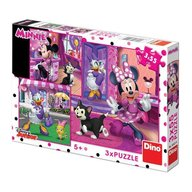 Dino Toys - Puzzle 3 in 1 distractie cu Minnie si Daisy (3 x 55 piese)