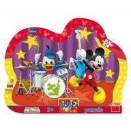 Dino Toys - Puzzle cu rama formatia lui Mickey Mouse 25 de piese