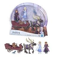 Hasbro - Set papusi Anna si Elsa , Disney Frozen 2 , Cu sanie