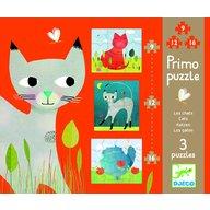 Djeco Set puzzle-uri progresive pisicute