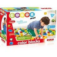 DOLU Cuburi colorate de construit - 56 piese