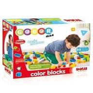 DOLU Cuburi colorate de construit - 85 piese