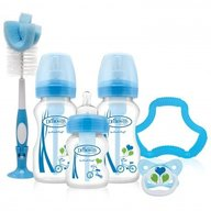 Dr. Brown's - Set cadou biberoane cu gat larg, polipropilena, Options (BPA free) Albastru