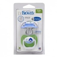 Dr. Brown's Suzeta Silicon PreVent Niv.1 (0-6 luni) BPA free 2 pack