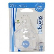 Dr. Brown's Tetine WN. Silicon de nivelul doi (2 pack)