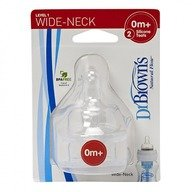 Dr. Brown's Tetine WN. Silicon de nivelul unu (2 pack)