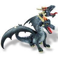 Bullyland - Figurina Dragon cu 2 capete, Negru
