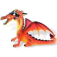 Bullyland - Figurina Dragon cu 2 capete, Orange