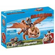 Playmobil - Dragons - Fishlegs si Meatlug