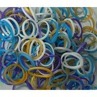 Rainbow Loom - Elastice Metalic 300 buc, Multicolor
