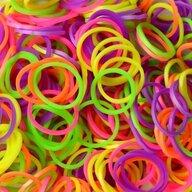 Rainbow Loom - Elastice Neon 300 buc, Mix