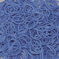 Rainbow Loom - Elastice Standard 600 buc, Albastru-ocean