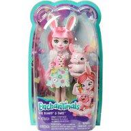 Mattel - Papusa Bree Bunny , Enchantimals , Cu figurina Twist