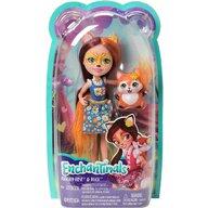 Mattel - Papusa Felicity Fox , Enchantimals , Cu figurina Flick