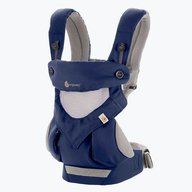 Ergobaby Marsupiu 360 Performance Cool Air French Blue 4 Pozitii