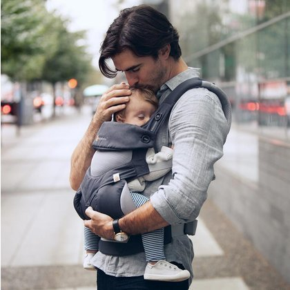 Ergobaby Marsupiu Ergobaby Cool Air Carbon Grey 4 Pozitii 360